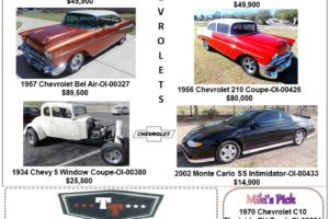 Chevrolet Collection various years and models