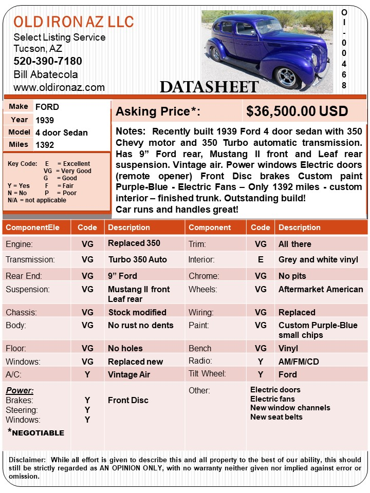 1939 Ford Sedan-OI-00468_DATASHEET