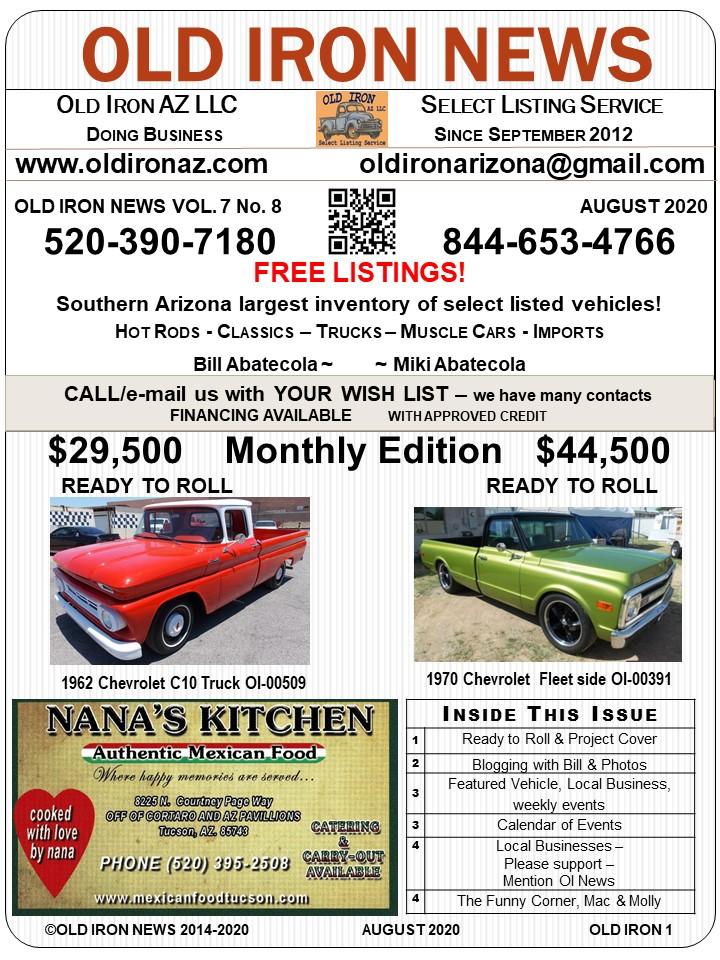 OLD IRON NEWS 2020 7 No 8 pg1